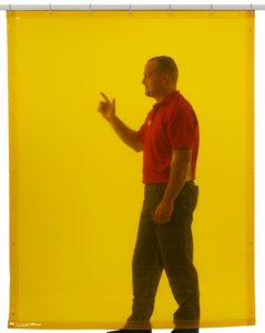 Welding curtain yellow 180x140